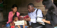 Jason Blackwell preaching in Cambodia