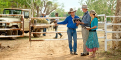 Jehovah's Witnesses preaching at a cattle station in the Australian outback