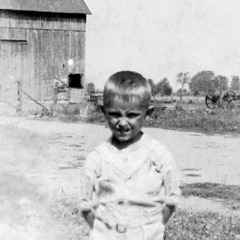 Kenneth Little as a young boy on his family farm