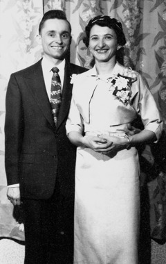 Kenneth and Evelyn Little on their wedding day