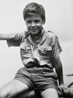 Gerrit Lösch as a young boy