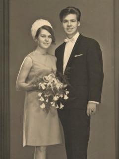 Gerrit and Merete Lösch on their wedding day
