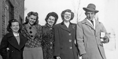 Mildred Olson and four of her Gilead classmates