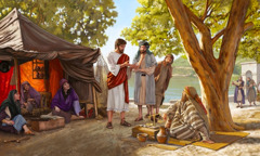 Jesus preaches to others about the good news of God's Kingdom