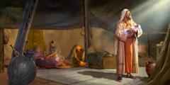 Abraham lé Isak si wodzi nɛ teti koe nye ema la ɖe akɔnu esime nyɔnuwo le Sara gbɔ kpɔm
