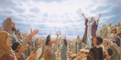 The Israelites express their thanks to Jehovah in a song of praise