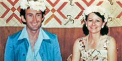 Geoffrey and Jenny Jackson in Tuvalu