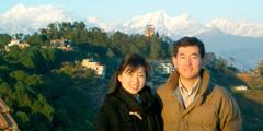 Michiyo ne Atsushi Kumagai wɔ Nepal
