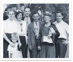 Margaret Walker with Corwin Robison and others