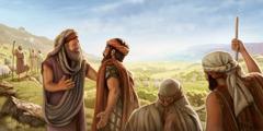 Te paraparau ra Aberahama ia Lota no te faaafaro i te hoê peapea i rotopu i ta raua mau tiai mamoe