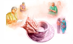 A Christian sister is molded by the Great Potter as she reads the Bible, prays, attends a meeting, and preaches to others