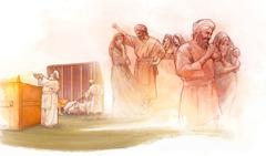 Temuk'ul sacerdote Elí yak ta abatinel ta Nailpak' templo k'alal yakik ta spasel bin chopol te snich'nabe