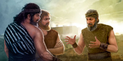 Noah preaches to two men