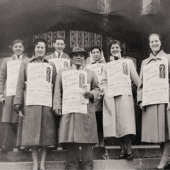 Denton Hopkinson and others advertising a public lecture in 1953