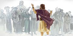 Noè predica a persone malvage