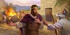 Samuele rimprovera il re Saul