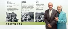 Douglas Guest di Portugal ba 1964, ba kot kena 1966, ba siti pengawa begempuru dalam taun 1974, enggau bini iya, Mary Guest
