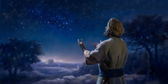The psalmist stands outside Jerusalem, looks up at the starry heavens, and praises Jehovah