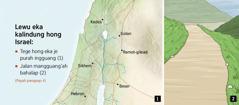 Peta jahawen lewu eka kalindung hong Israel tuntang jalan je bahalap