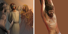 Jesus is rejected by the Jewish leaders; Jesus dies on the torture stake