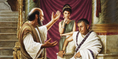 The apostle Paul speaks to Governor Felix and Drusilla