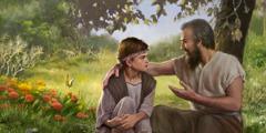 Lamech yn dysgu Noa am Jehofa
