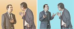 یہوواہ کا ایک گواہ دوسرے گواہ سے بحث کر رہا ہے؛ یہوواہ کا ایک گواہ دوسرے گواہ سے صلح کر رہا ہے۔