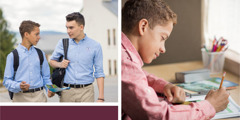 ایک نوجوان ایک مشق کی مدد سے اپنے ہمجماعت کو گواہی دینے کے لیے تیاری کر رہا ہے۔
