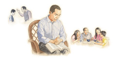 Applying Bible principles and prayer promote peace in the family