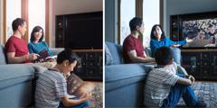 ایک خاندان ٹیوی پر سیاسی مظاہرے کو دیکھ کر پریشان ہو رہا ہے مگر بائبل کی پیشگوئیوں پر غور کر کے خوش ہو رہا ہے۔