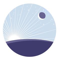 O Sol, a Lua e as estrelas vistos da Terra.