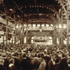 Ľudia počúvajú biblickú prednášku na zjazde Bádateľov Biblie v Cedar Point, Ohio, ktorý sa konal v roku 1922