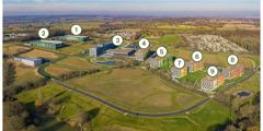 英国新分部办事处的鸟瞰图。
