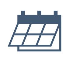 Um desenho de um calendário.