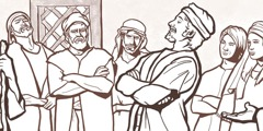 Şamuel Davudun böyük qardaşları ilə görüşür