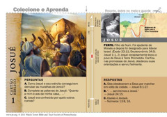 Cartão bíblico de Josué