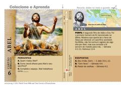 Cartão bíblico de Abel