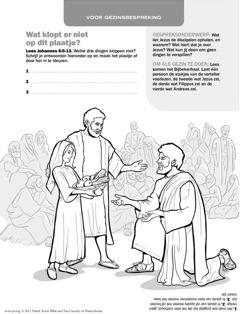 Jezus geeft een menigte te eten