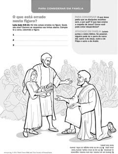 Jesus alimenta uma multidão