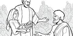 Jézus egy nagy tömeget táplál