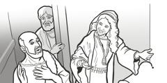 Egy asszony kedvesen bánik Elizeussal