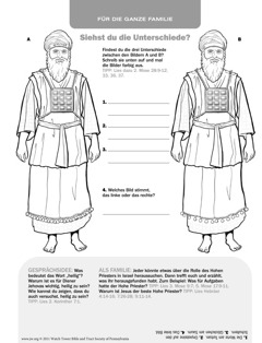 Ein Hoher Priester im alten Israel