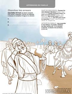 Aman, des serviteurs et Mardochée
