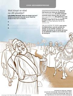 Haman, bedienden en Mordechai