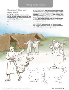 Abraham und Lot sprechen sich aus