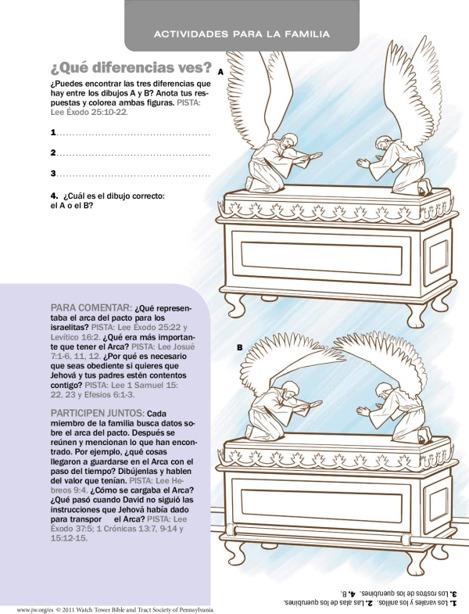 El Arca Del Pacto Actividades Ilustradas Para La Familia