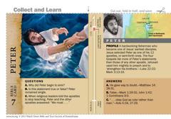 Peter Bible card