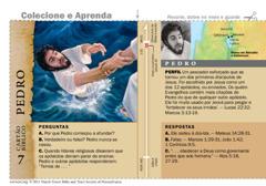 Cartão bíblico de Pedro