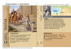 Cartão bíblico de Isaías