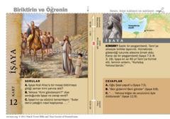 İşaya Kutsal Kitap kartı